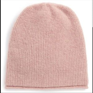 Madewell light pink wool beanie OS NWT